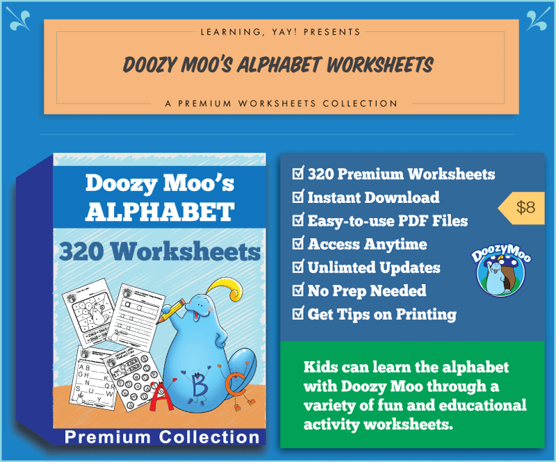 Doozy Moo's Alphabet Worksheets Collection