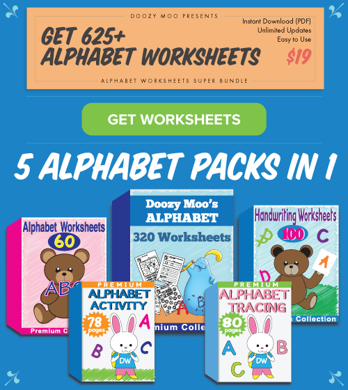 Alphabet Worksheets Super Bundle
