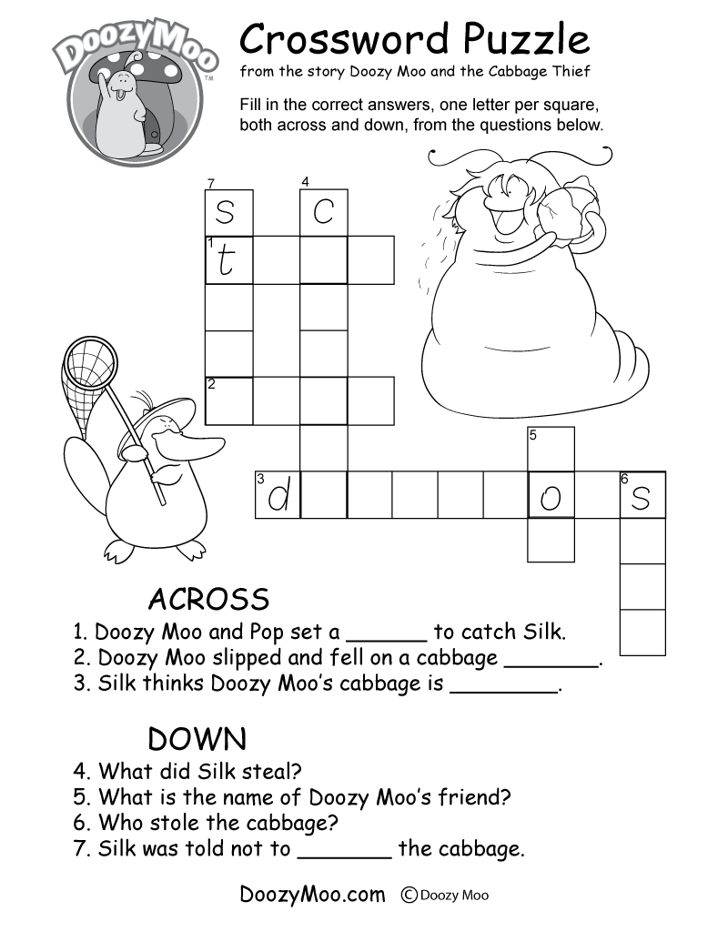 Worksheets Crossword Puzzle Worksheets crossword puzzle worksheet free printable
