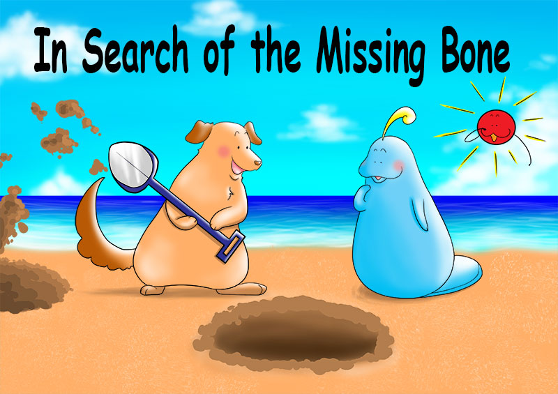 Title page for the short story called In Search of the Missing Bone.
