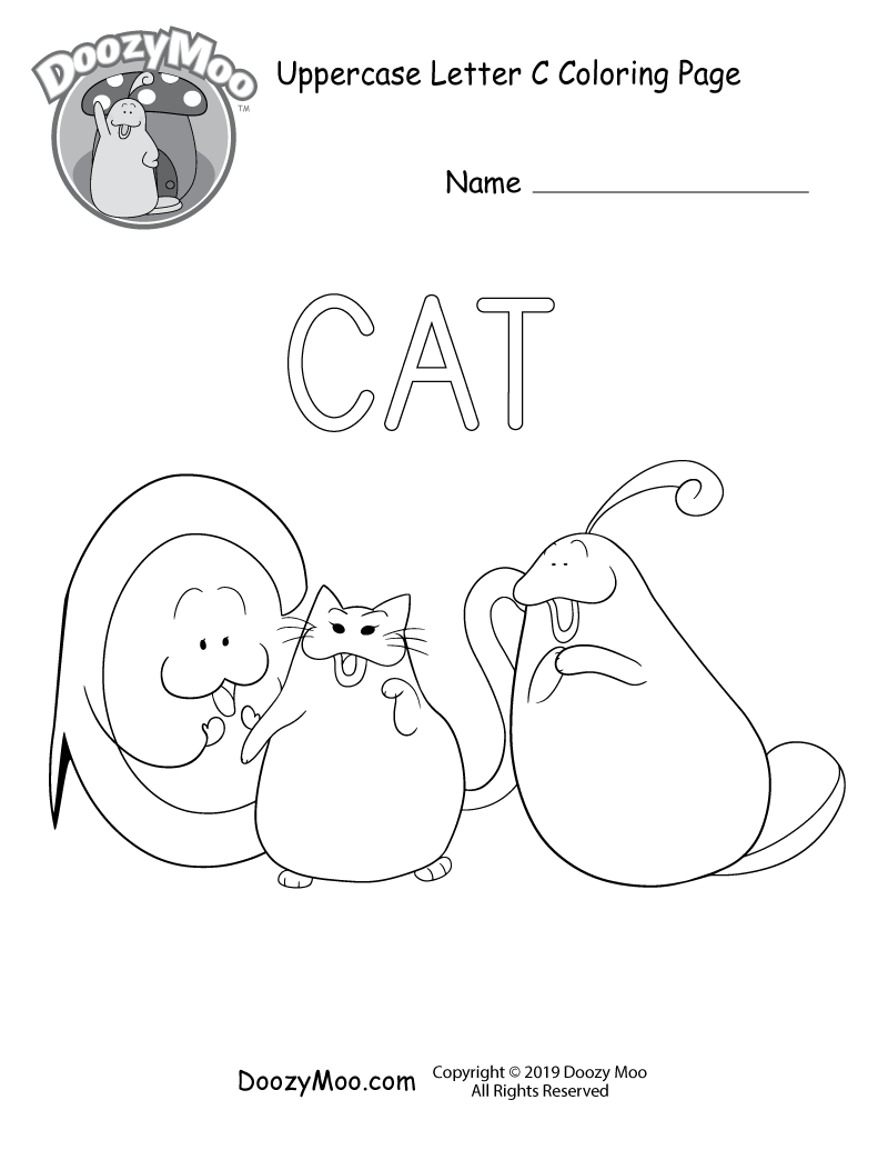 Cute Alphabet Coloring Pages (Free Printables) - Doozy Moo