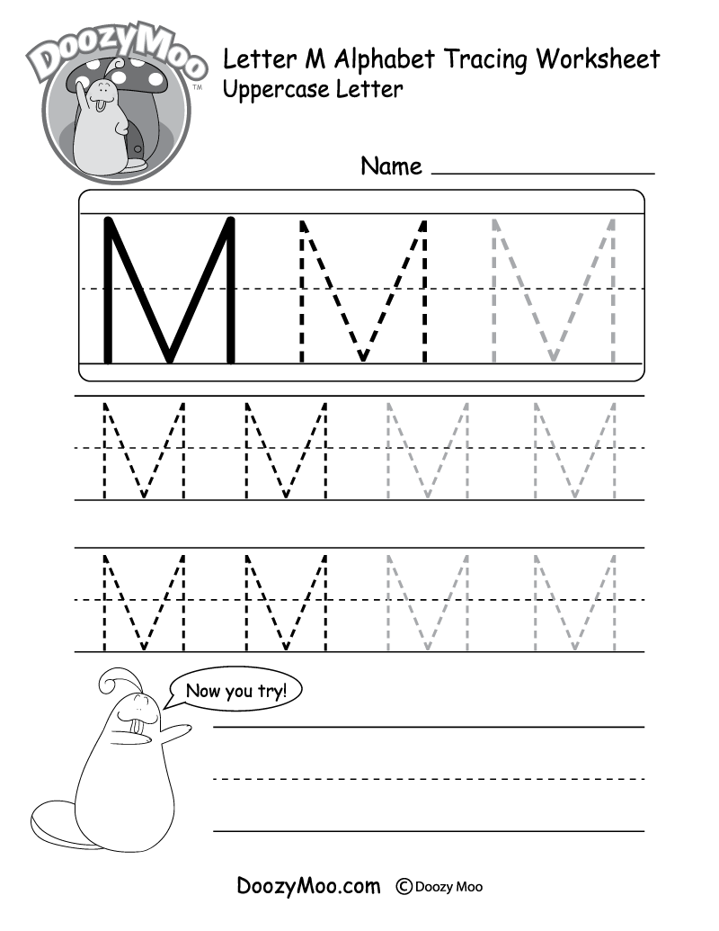 Missing Alphabet Letters Worksheet Free Printable Doozy Moo – Letter Tracing Worksheets Free